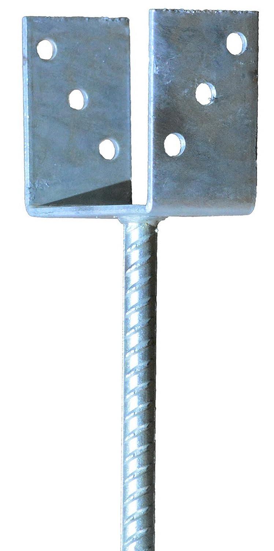 Pfostentr/äger zum Einbetonieren f/ür Pfosten 10x10 cm mit Dolle 200 mm lang
