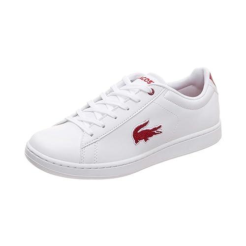Zapatilla Mujer Lacoste Carnaby Blanco/Rojo 36SPJ0001, 4-37: Amazon.es: Zapatos y complementos