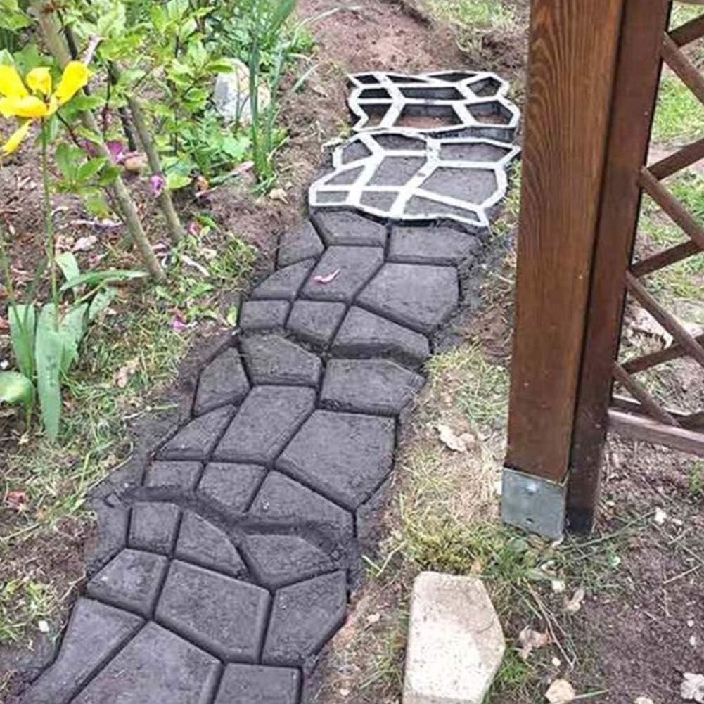 Reusable Path Maker Mold Home Garden Stepping Walk Brick Pavement Mold DIY Mould