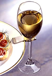 Amazon.com | Clipper Set of 6 Wine Glass Plate Clips by True: Glass ...