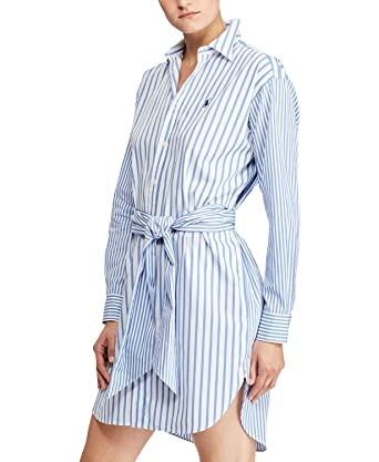 Shirtdressnavy6At Cotton Striped Amazon Ralph Lauren Polo 7yY6gbf