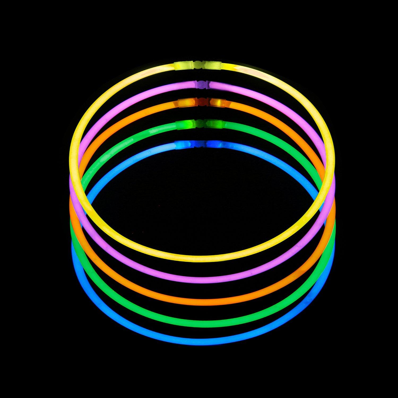 RUSPEPA50Pcs 22 '' Glow Sticks Halsketten Bulk in Verschiedenen Farben fü r Geburtstag und Party