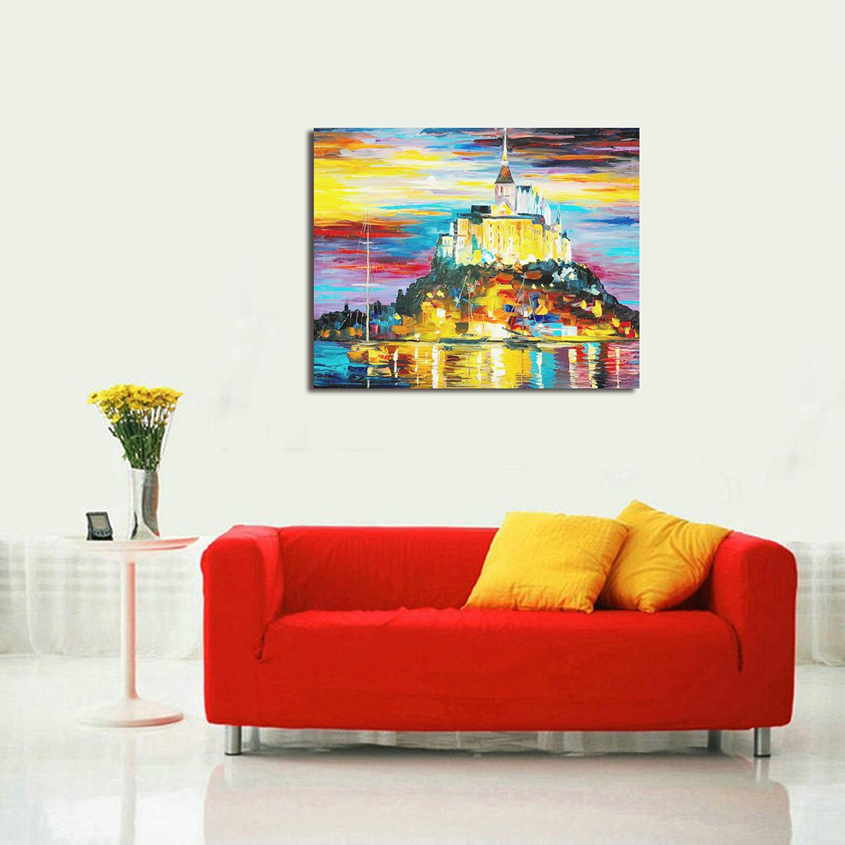 Modern Abstract Oil Paintings Wall Home Decor Artwork Abstract Extra Large-City Hand Painted on Canvas 24X30 Inch (Works Gorgeous 2)