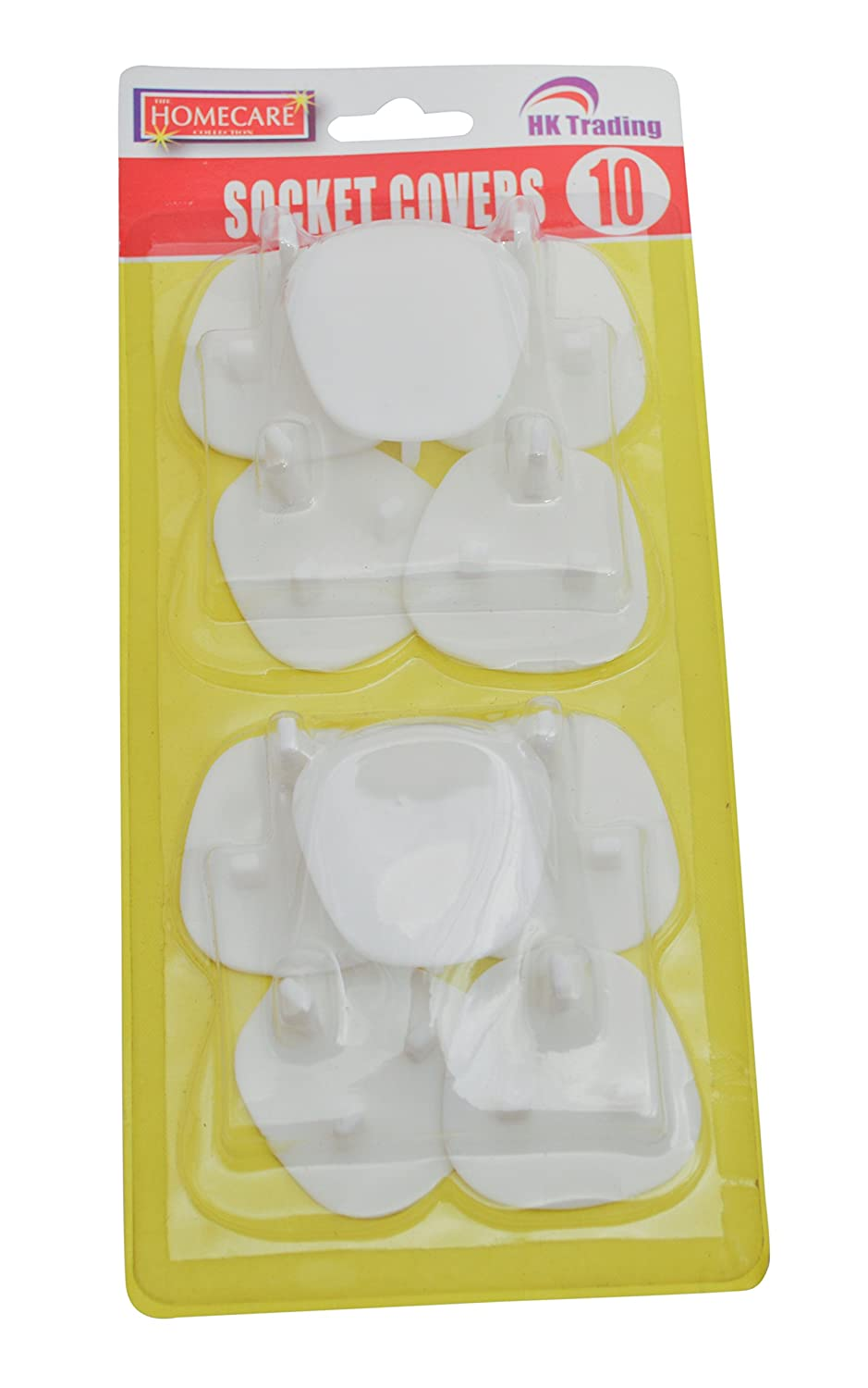 10 x SOCKET COVERS - 3 PIN SAFETY WALL BLANKING PROTECTOTS - FREE DELIVERY HK