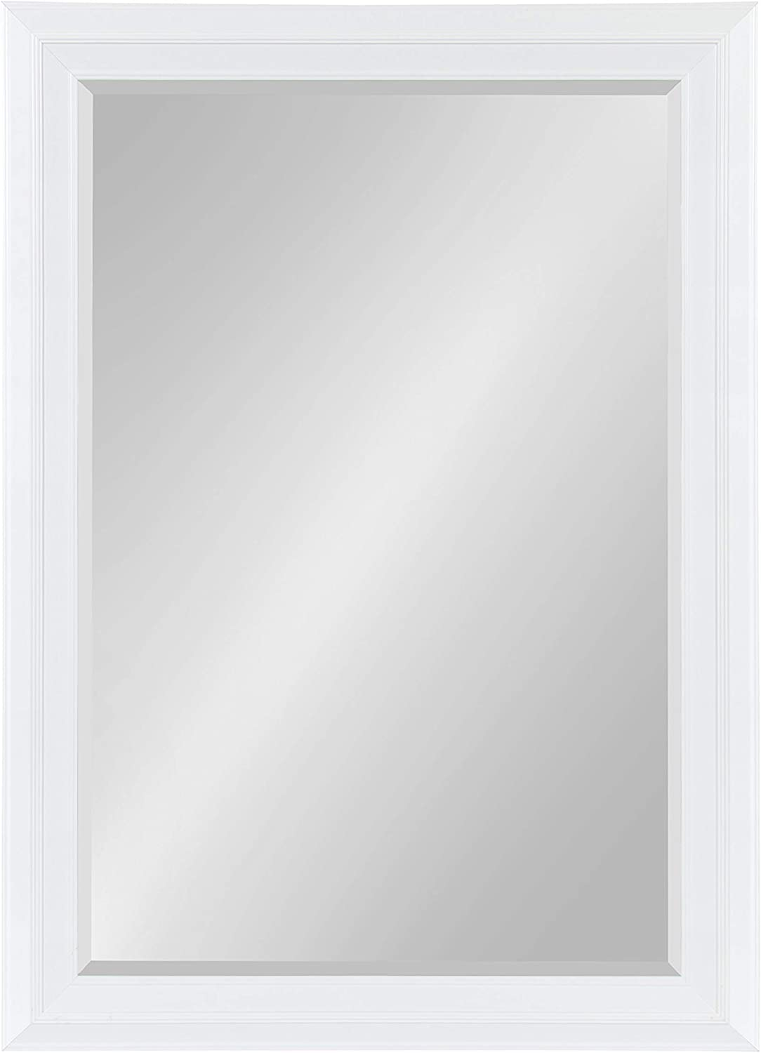 Kate and Laurel Whitley Framed Wall Mirror, 29.5x41.5, White
