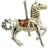 Carousel Merry Go Round Horse Pin Brooch Costume Fashion Jewelry for Women
