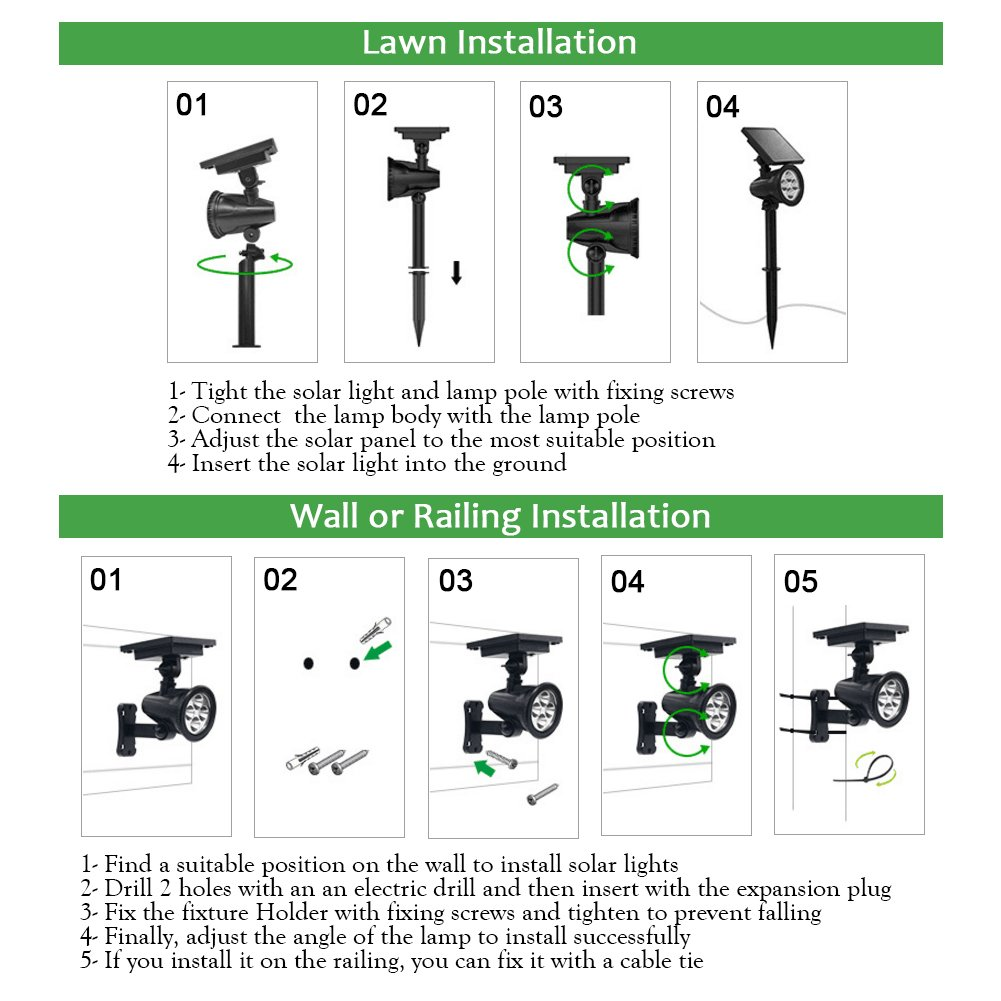 PowerKing Flood Light LED Outdoor Remote Solar Flood Light For Garden (8 color,2 pcs) by PowerKing (Image #4)