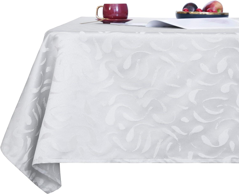 Deconovo Mantel Mesa Rectangular Decorativo Antimanchas Rectangular Cocina Festival para Fiesta 130 x 130 cm Rosa