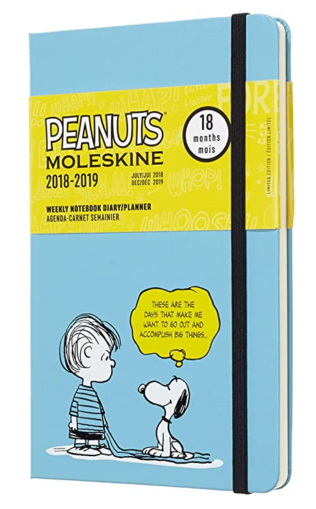 Moleskine Limited Edition Peanuts 18 Month 2018-2019 Weekly Planner, Hard Cover, Large (5