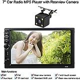 KKmoon Reproductor Multimedia MP5 HD Pantalla Tactil 2 DIN BT Radio FM USB/TF Aux Entrada para Coche con Camara de Vision Trasera