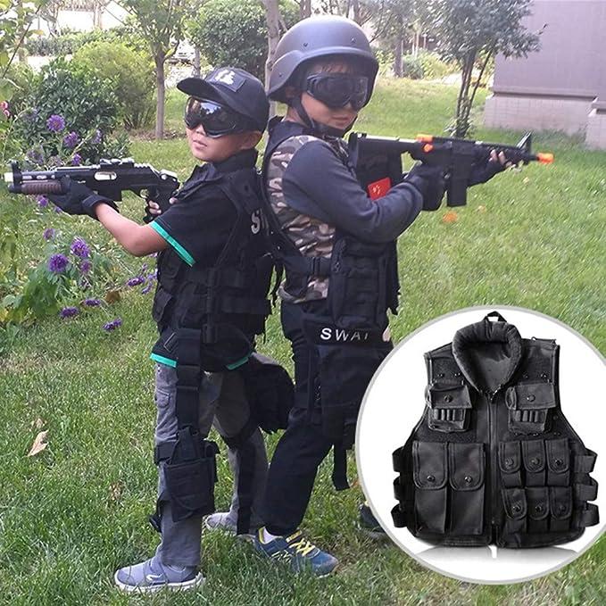 YANODA Chalecos Tácticos Niños Cazando Militar Táctico ...