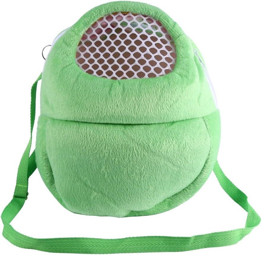 Bolsas de transporte para mascotas Hamster Rata Erizo Saco de dormir Transpirable portátil de salida de viajes Bolsos Mochila con correa de hombro ( Color : Verde )