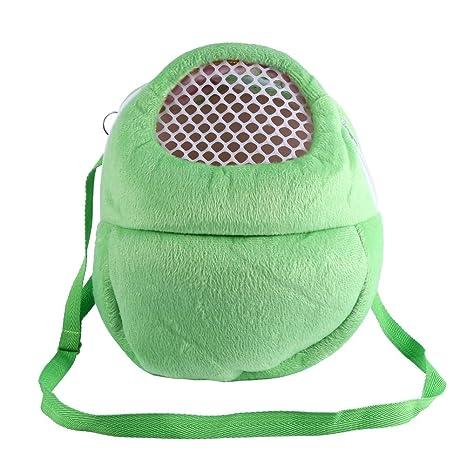 Pet Carrier Bags Hamster Rat Hedgehog Rabbit Sleeping Bag Breathable  Portable Outgoing Travel Handbags Backpack With Shoulder Strap (Color :  Green)