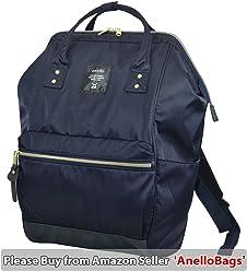 cdcf2eebe2 Japan Anello HD NYLON LARGE NAVY Waterproof Backpack Unisex Rucksack Bag  Campus