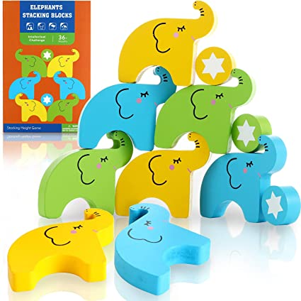 16Pieces Boys /& Girls Plastic Stacking Blocks Balancing Game for Kids Stacking Toys Early Education Parent-Child Interactive Puzzle Building Block Toy Stacking Balance Game