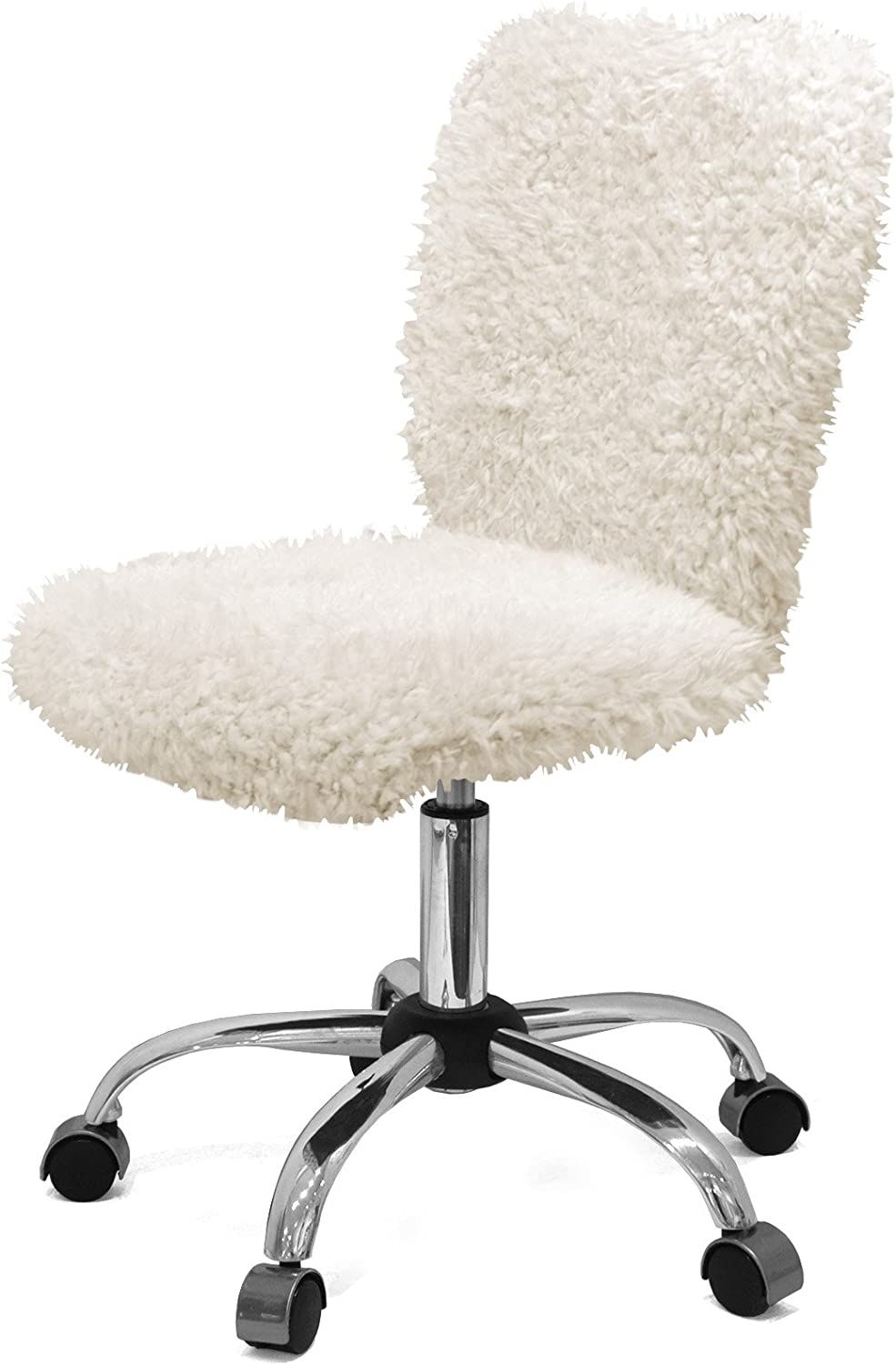 Urban Shop Mongolian Faux Fur Task Chair