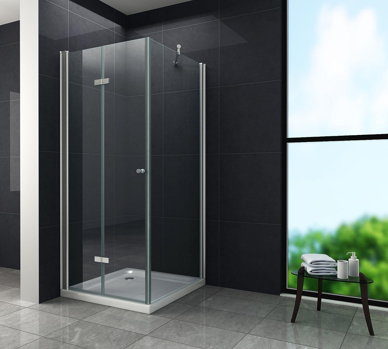 Puerta ONTO 90 x 75 x 200 cm con mampara de ducha: Amazon.es ...