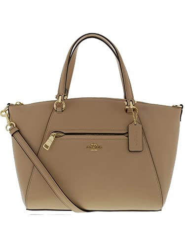 cc31e99cfd6d4 COACH Women s Pebbled Prairie Satchel Li Beechwood One Size  Handbags   Amazon.com