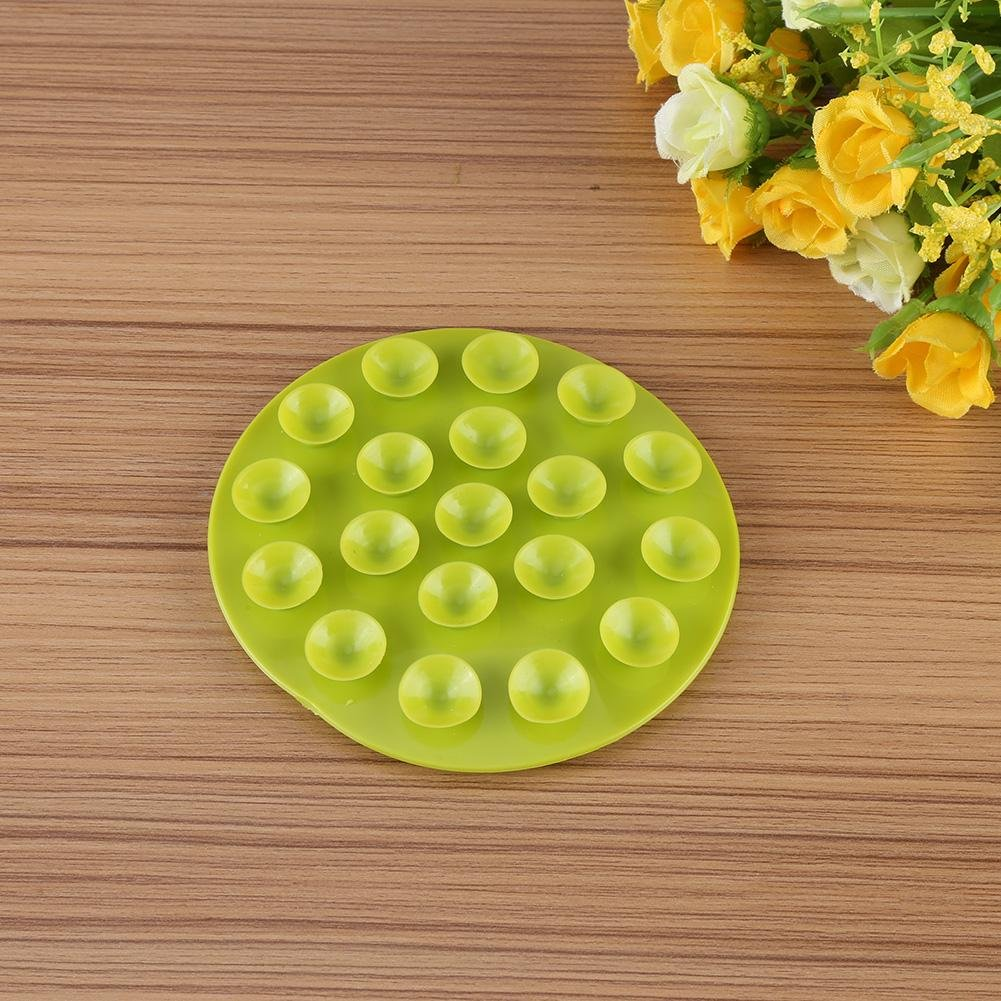 Hemore Baby Products Baby Infant Feeding Bowl Cup Bottle Antislip Soft Rubber Table Place Mat Sucker 1pc red