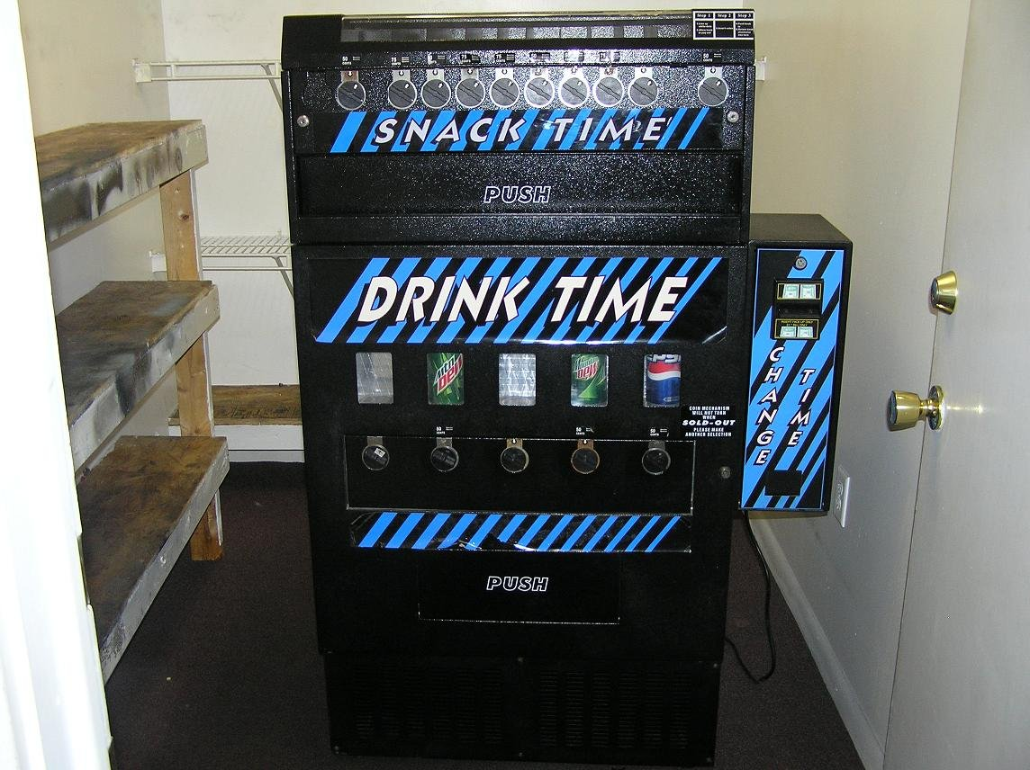 VM250 Drink TIME Vending Machine CAN Coin Mechanism - New/!