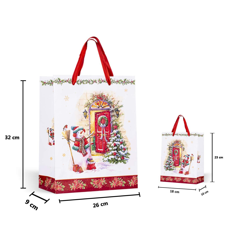 Hochzeiten Geschenkt/üten Papiert/üten Geschenkbeutel Set Mitgebsel T/üten Geschenkt/ütenset f/ür Partys 12 St/ück Feiern Weihnachten-12