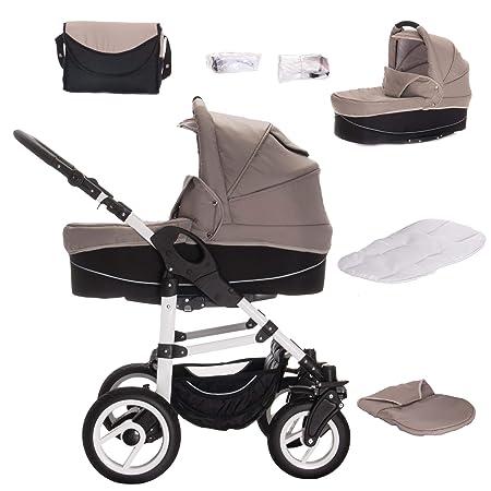 Bebebi Paris - Carrito de bebé 3 en 1, neumáticos de aire beige Seine: Amazon.es: Bebé