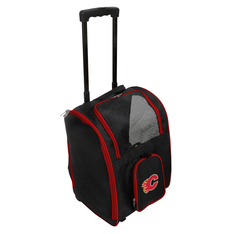 Denco NHL Calgary Flames Premium Wheeled Pet Carrier