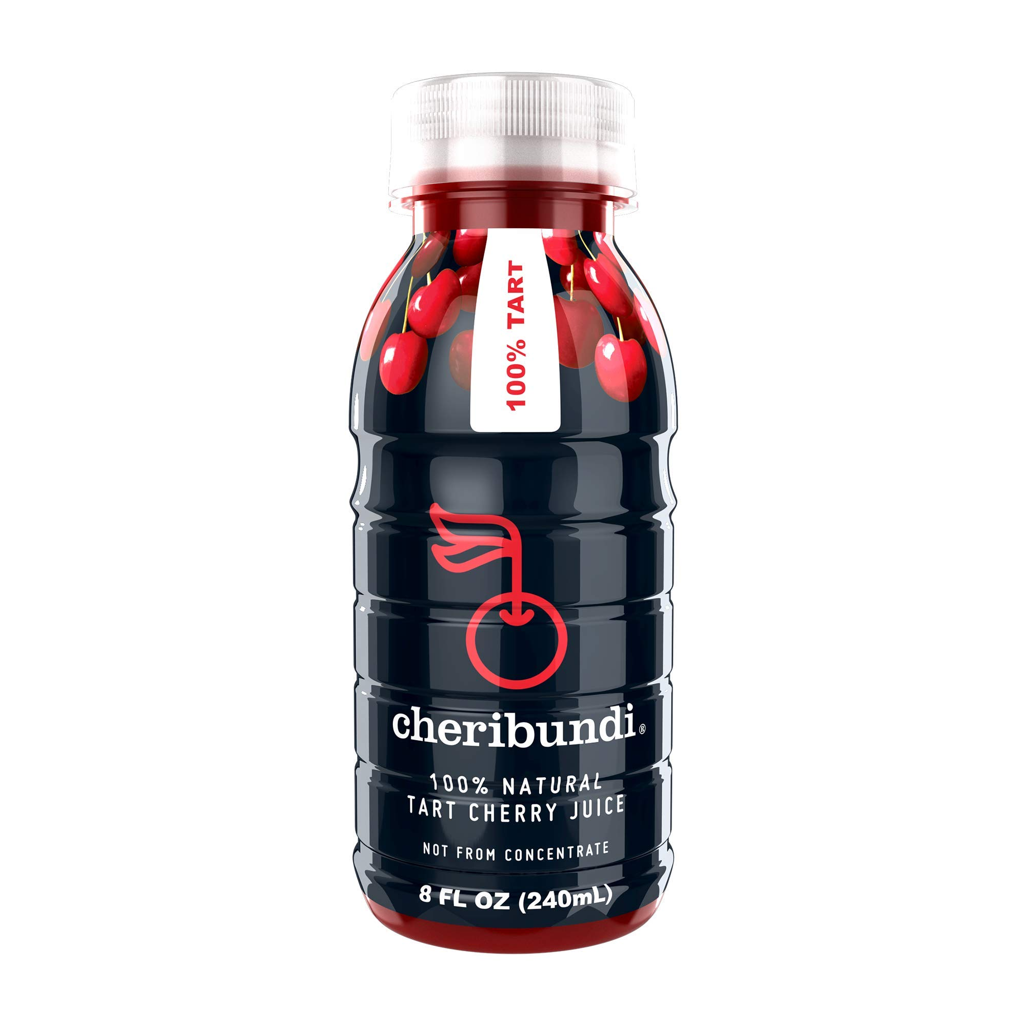 Cheribundi 100% Tart Cherry Juice – 60 Tart Cherries and 100 Calories Per 8oz. Serving, One Ingredient, All of the Benefits, Reduce Soreness, Recover Faster, Boost Immunity and Improve Sleep