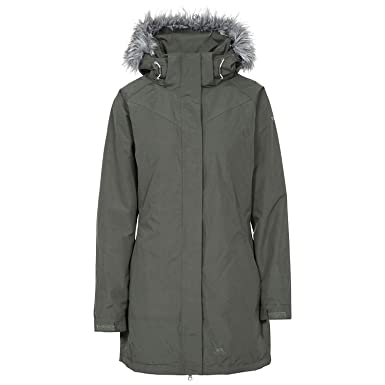 5e17cff0484 Trespass San Fran , Olive, XXS, Waterproof Jacket with Removable Hood for  Ladies,