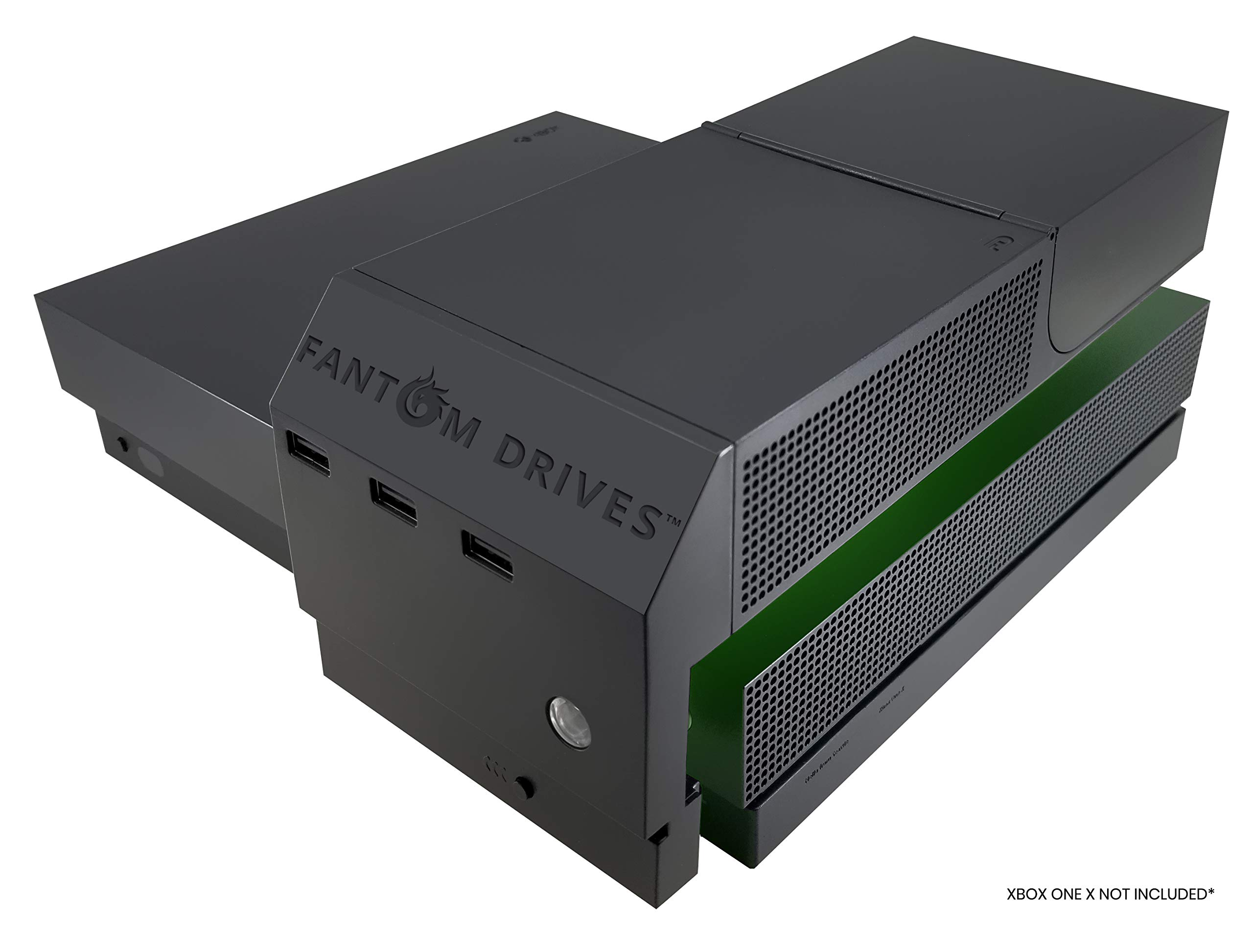 Fantom Drives 2TB Xbox One X SSD (Solid State Drive) - XSTOR - Easy Attachment Design for Seamless Look with 3 USB Ports 2.5 Inches