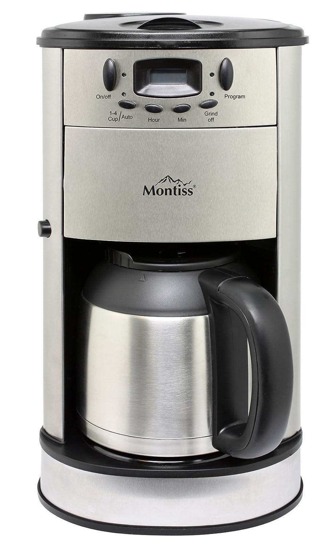 Amazon.de: Kaffeemaschine Mit Kaffeemühle + Timer + Thermoskanne  Kaffeeautomat Design