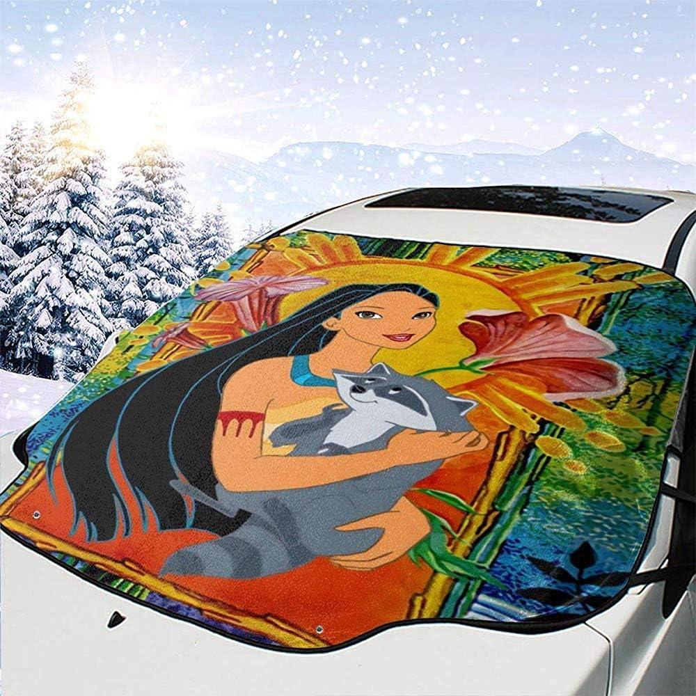 ETGeed Pocahontas und Meeko Windschutzscheibenabdeckung extra gro/ße Windschutzscheiben-Winterabdeckung Kratzer Schnee Frost Wasser EIS