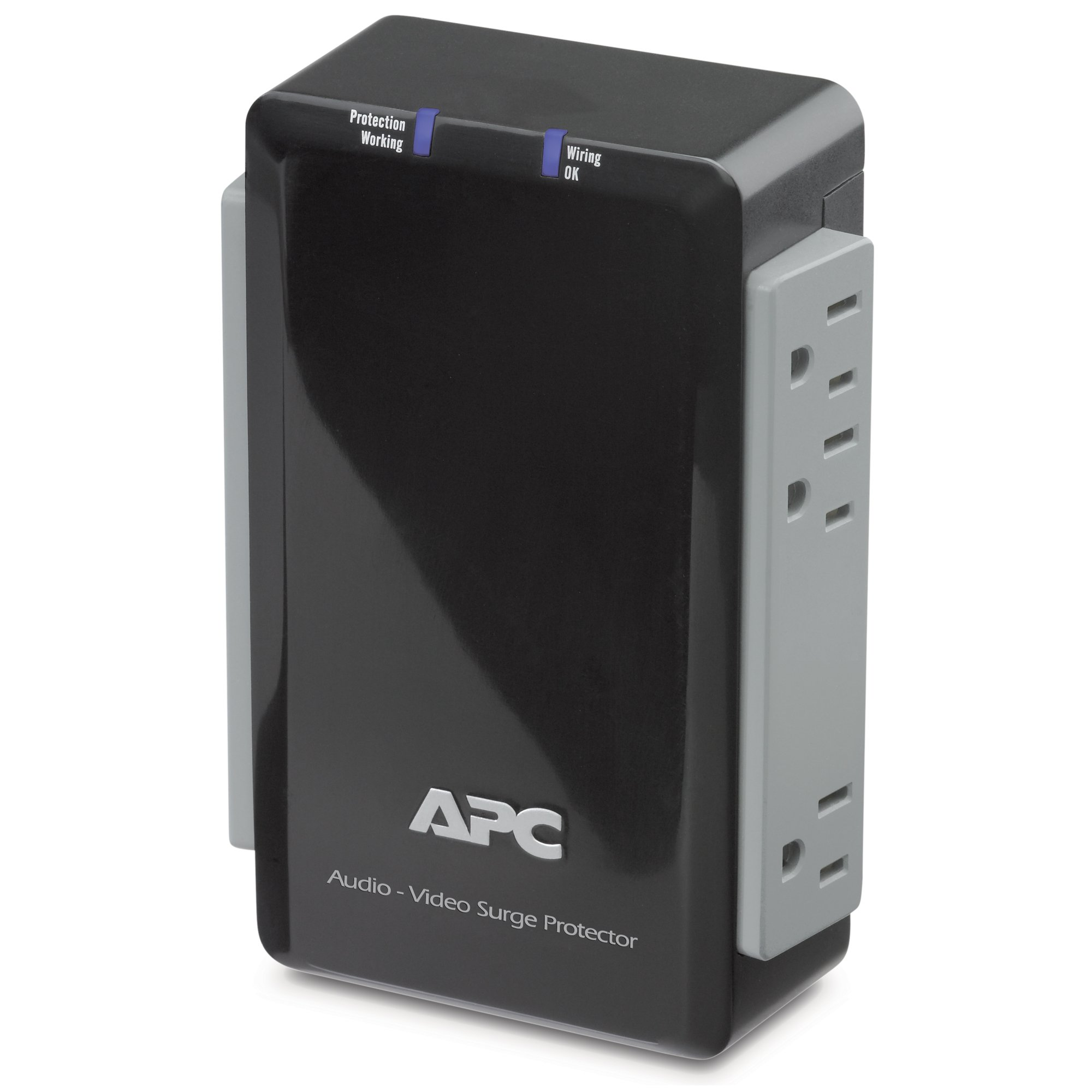 APC P4V Audio/Video 120V Surge Protector 4 Outlet with Coax Protection.