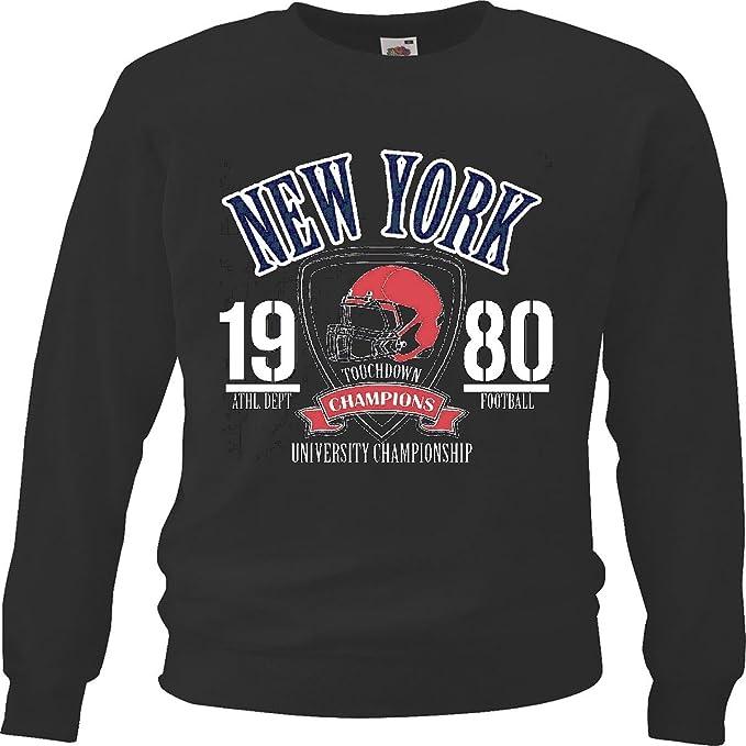 Sudaderas Suéter New York Futbol Deportes Departamento DE LA Universidad del Aterrizaje Campeonato FÚTBOL FÚTBOL Americano Equipo de la Bundesliga de fútbol ...