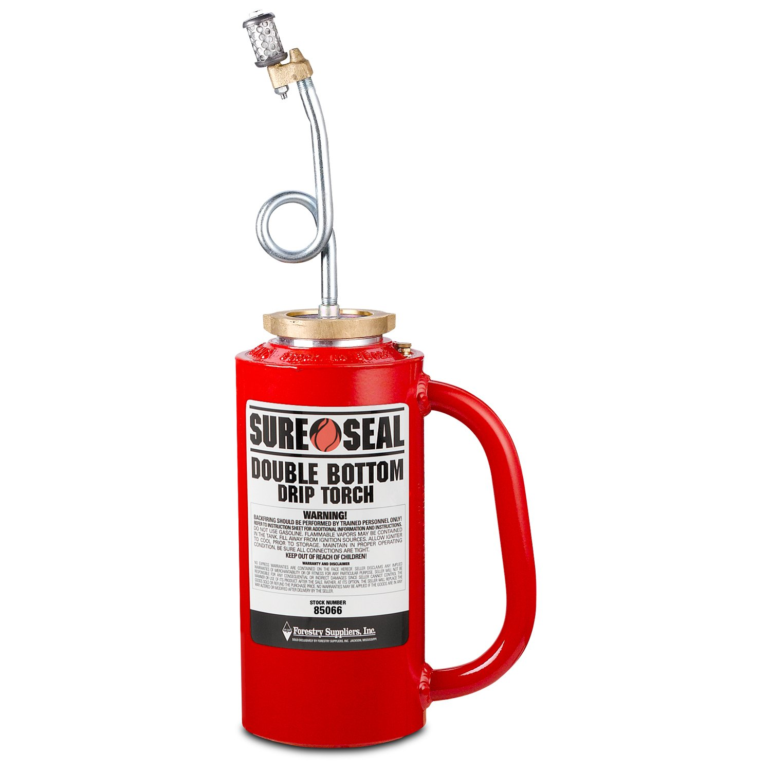 Forestry Suppliers Sure-Seal Red OSHA Double-Bottom Drip Torch
