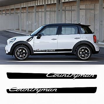 Mini Countryman R60 side stripe lettering porsche style