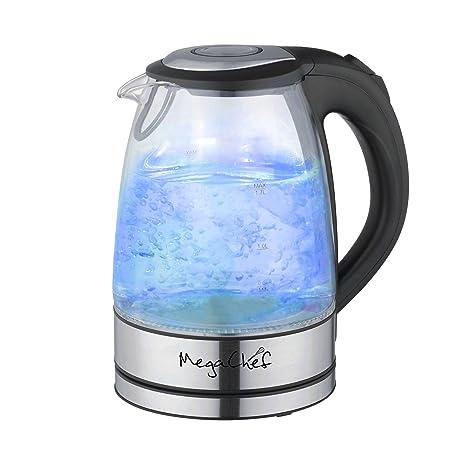 Amazon.com: megachef vidrio y acero inoxidable 1.7lt ...
