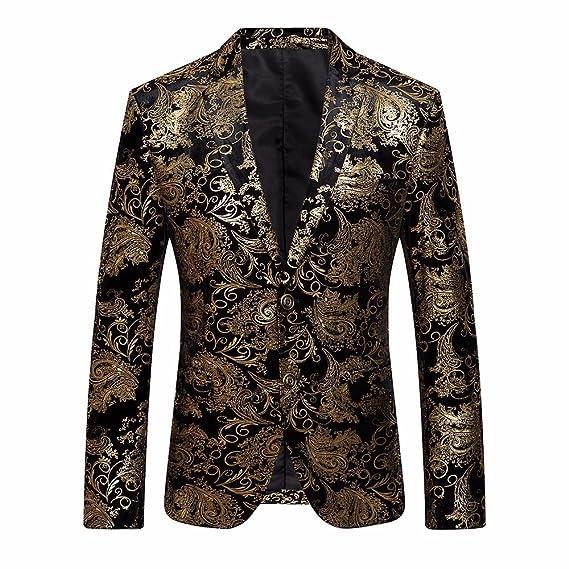 Longra-Uomo Giacca Elegante Vestito da Uomo Slim Fit Cappotto Giacca Blazer  in Paillettes Uomo 01453520b49e
