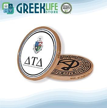 Amazon com: Delta Tau Delta Bronze Color Small Collectible Challenge