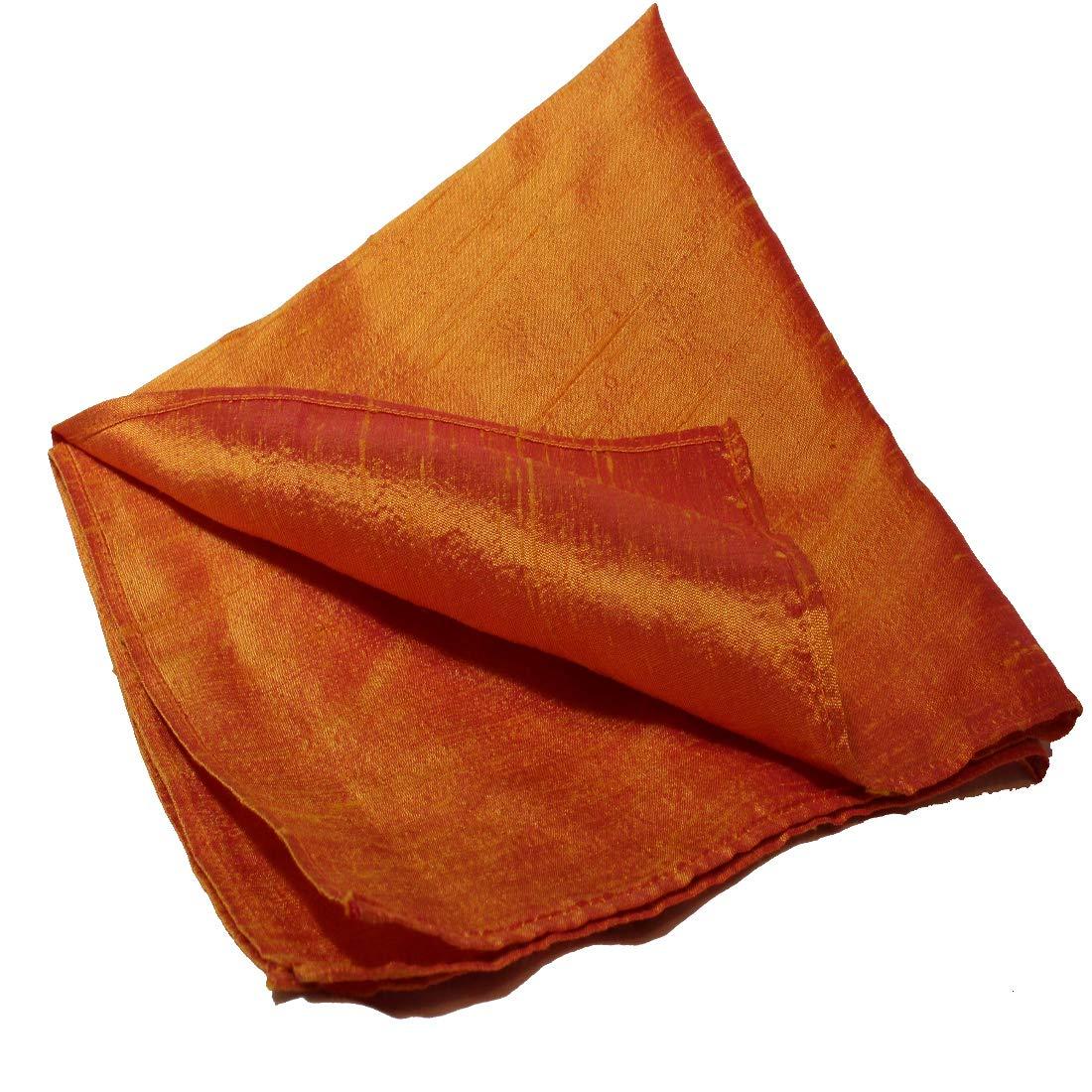 Caramel Glow Dupioni Silk Pocket Square by Royal Silk