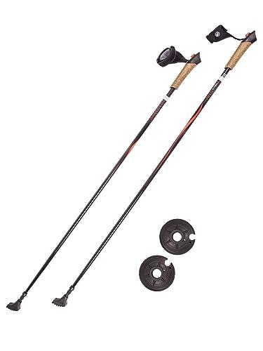 Leki Spin Nordic Walking Stick Black 100 130 Cm Amazon
