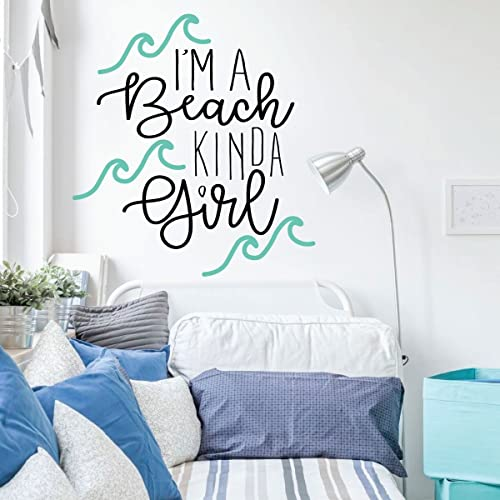 Beach Decor - I\'m A Beach Kinda Girl - Vinyl Wall Art Decal For Home  Decoration, Bedroom, Playroom or Study Area - Beach House Decor