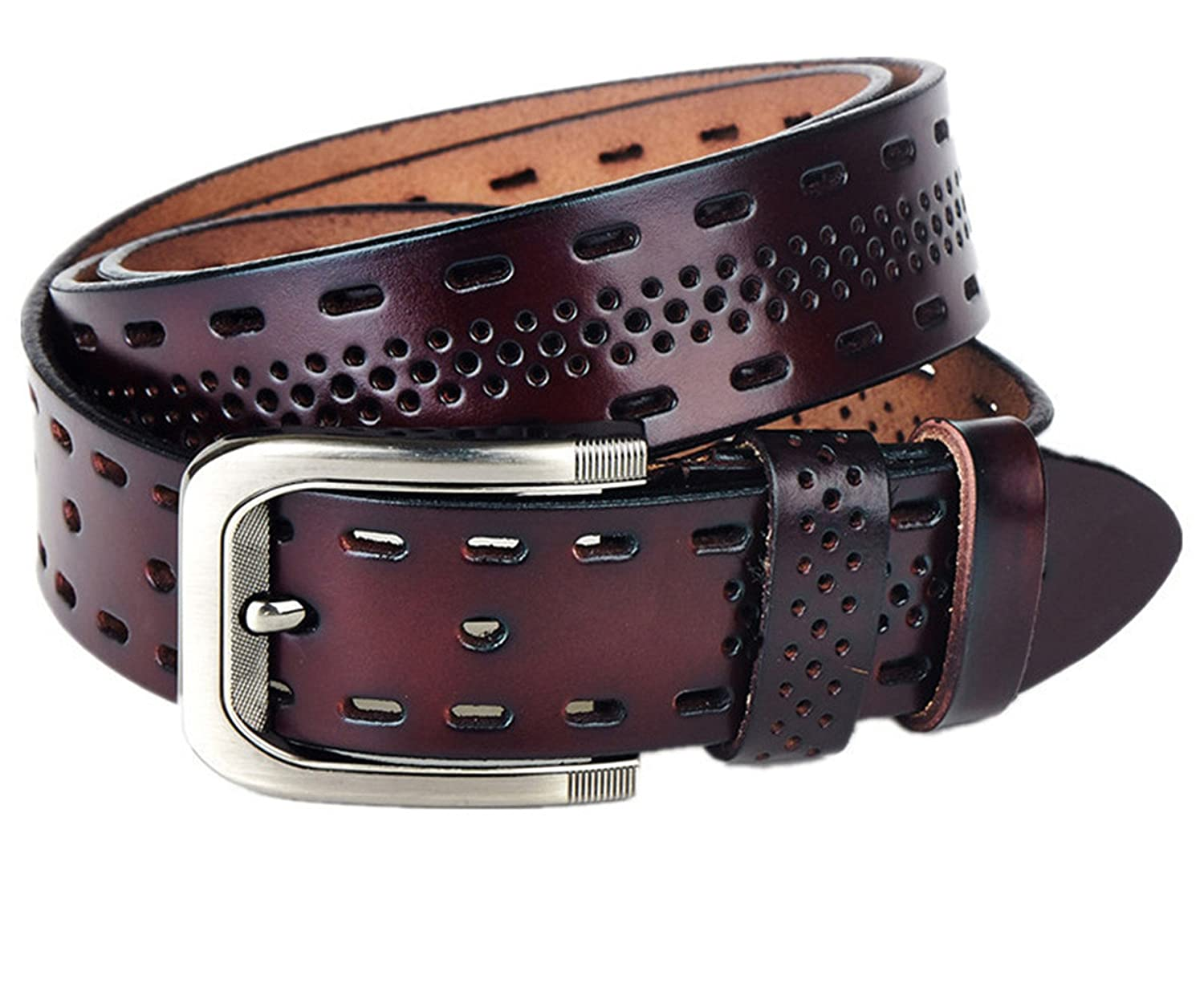 TOGIC Fashion Mens Belts,Casual Design Mensollow Ventilate Belt For Men,Hip Jeans Belts Q3