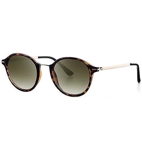 Avoalre Gafas de Sol Mujer Vintage Retro Leopardo Gafas de Sol Mujer Redondas en Moda 2019 Lentes Protección UV400 Punte Metal y Montura de Acero ...
