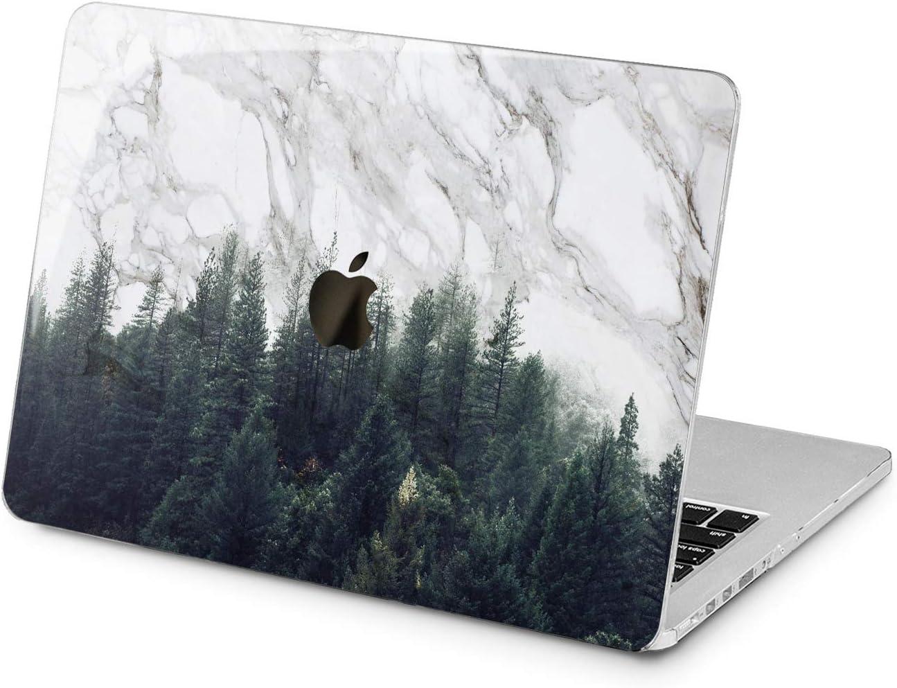 Cavka Hard Shell Case for Apple MacBook Pro 13 2019 15 2018 Air 13 2020 Retina 2015 Mac 11 Mac 12 Nature Print Trees Decor Design Geometric Wood Forest Unique Laptop Protective Plastic Cover