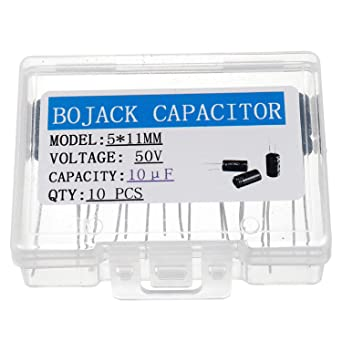 10 × Electrolytic Capacitors 1uF 50V Pack of 10