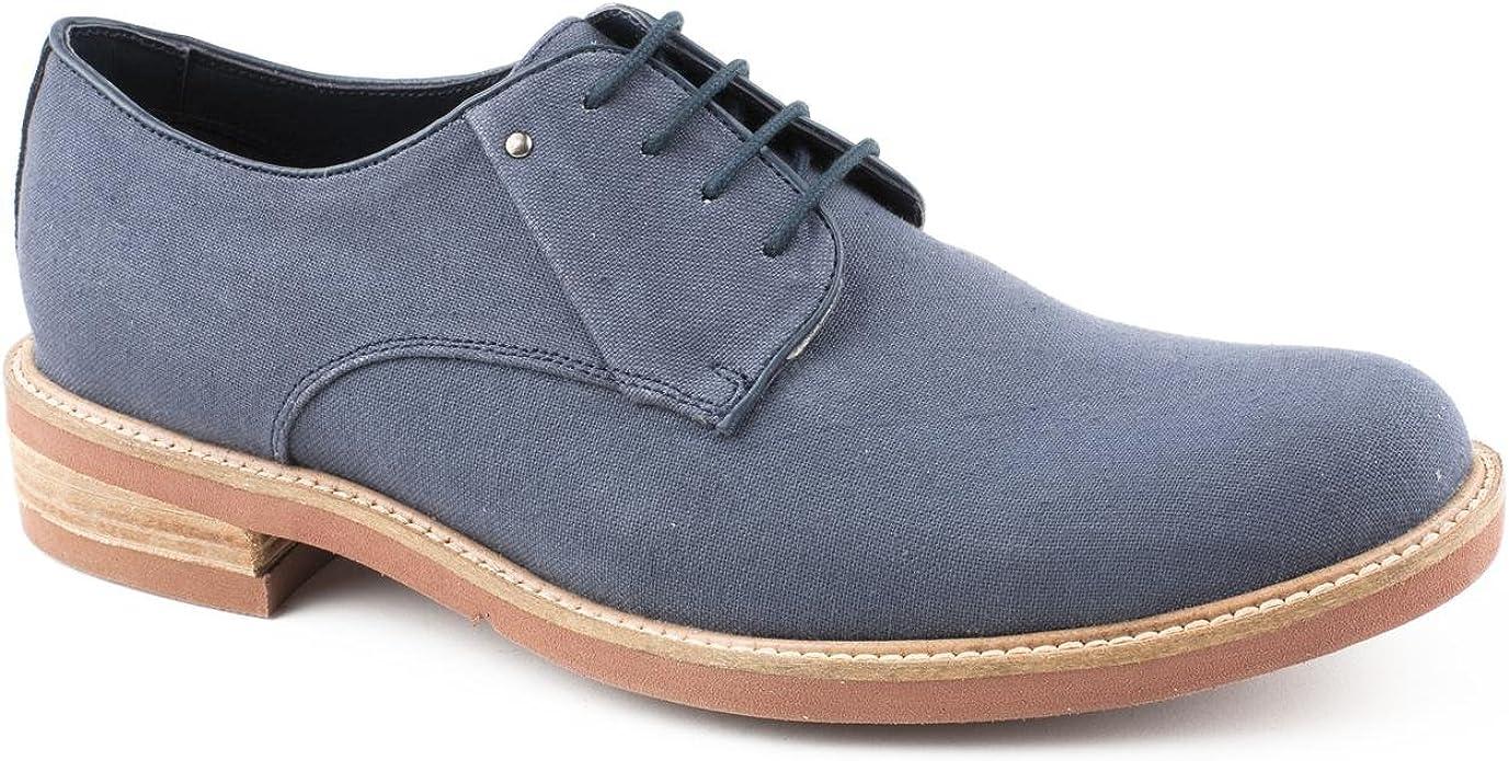 Piure - Zapatos de Cordones de Lona para Hombre Azul Azul, Color ...