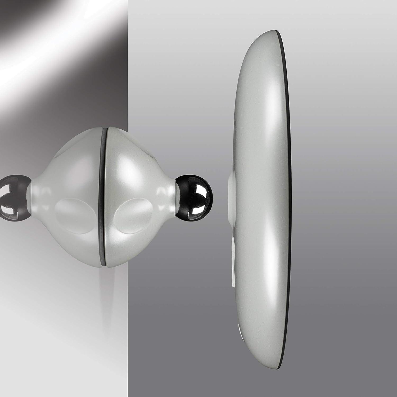 lumi/ère pour Application du Maquillage Chaque Angle Parfait Magnification 5x Miroir LED /à variateur dintensit/é Accrochable Toucher et Lumineux Addition Parfaite aux Carreaux de Salle de Bain