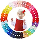 50PCS Hair Bows Clips for Fine Hair 2inch Tiny Grosgrain Ribbon Baby Bows Alligator Hair Clips Fully Lined for Infants Newborns Toddlers