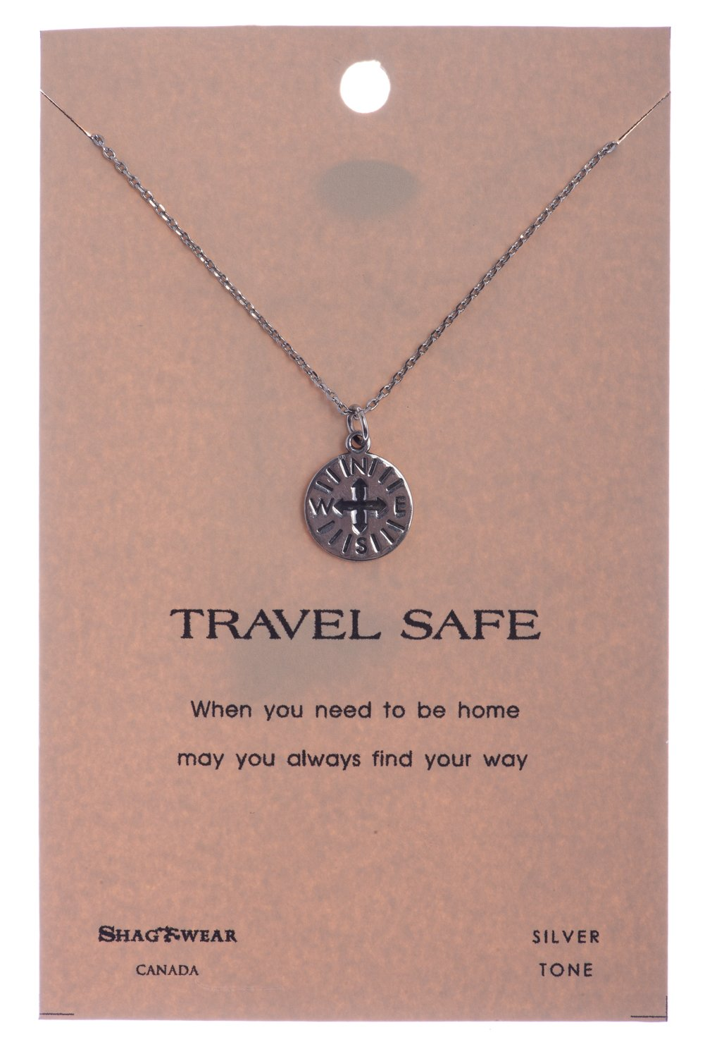 Shagwear Journey and Teacher Inspirations Quote Pendant Necklace